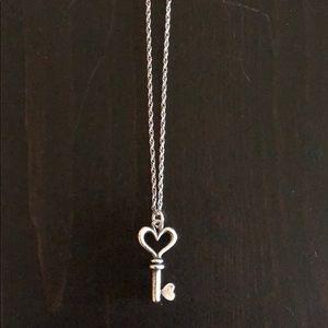 James Avery Heart Key Necklace